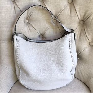 Rebecca minkoff Leather  unlined whipstitch hobo.